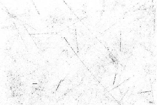 Grunge black and white pattern. Monochrome particles abstract texture. Background of cracks, scuffs, chips, stains, ink spots, lines. Dark design background surface.