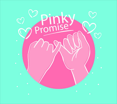 Happy promise day. Promise Day vector illustration for 11th February. Pinky promise. Celebrate before valentine's day with your love one. Happy Valentine's Day.