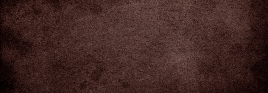 Brown paper background with vintage texture dark color background for banner website