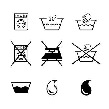 Clothing usage instruction icons