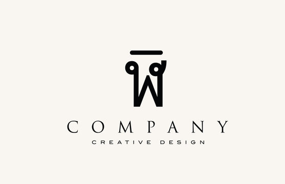 W vintage abstract alphabet letter icon logo. Design for lettering and corporate identity. Professional elegant template