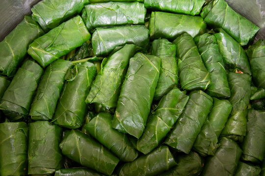Wrap cabbage with rice with meat, stuffed cabbage in a pot is traditional Turkish cuisine.