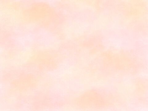 優しい春のイメージの壁紙、パステルカラー、ピンク、オレンジ、ふわふわ、夕焼け