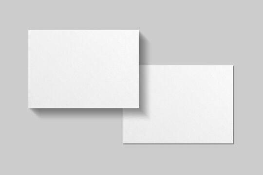 Realistic blank postcard illustration for mockup. 3D Render.