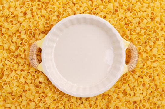 Dry pasta background.