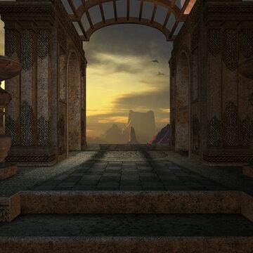 3d render of a mystic fantasy background