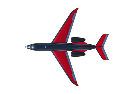 3D render image representing a private jet