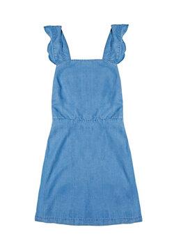 Blue sundress isolated on white