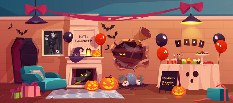 Halloween interior for party celebration, holiday