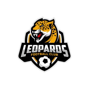 Leopards mascot for a football team logo. Vector Illustration.