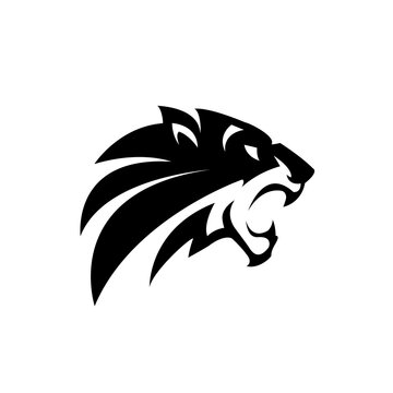 Tiger logo emblem template mascot symbol for business or shirt design.