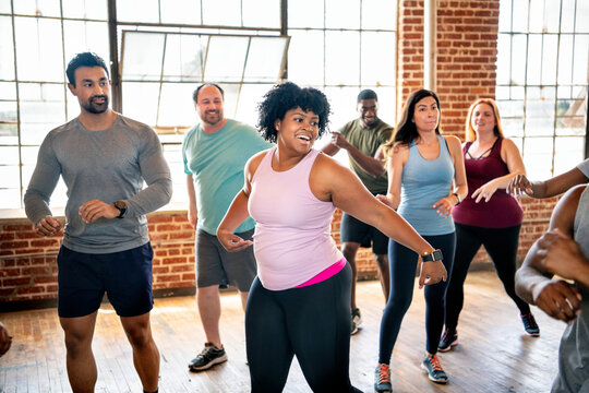 Zumba class at the gym