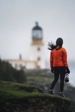 Traveler at Neist Point