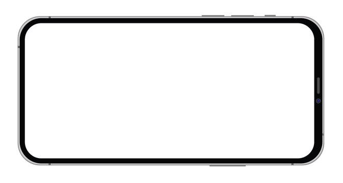 Modern smarphone on white backgroun vector eps 10