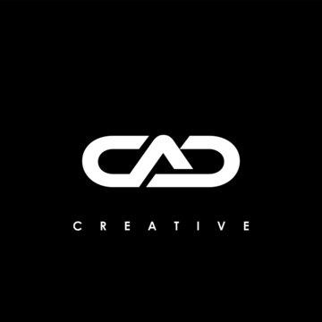 CAD Letter Initial Logo Design Template Vector Illustration