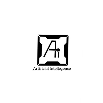 logo artificial Intellegence, can be used as logo or brand