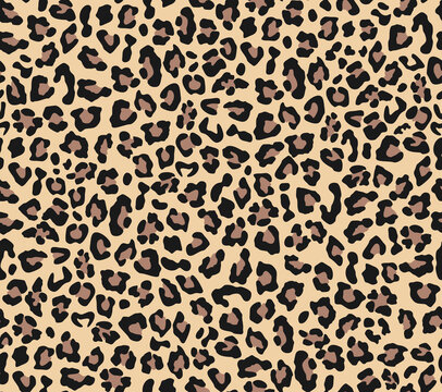 Abstraction leopard vector seamless print for textiles. Fashion pattern