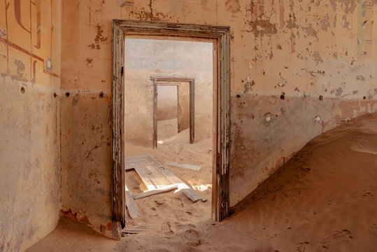 empty ruined doorways