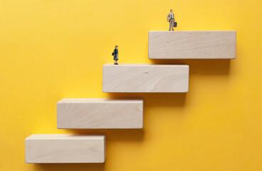 Fototapeta Gender pay gap concept