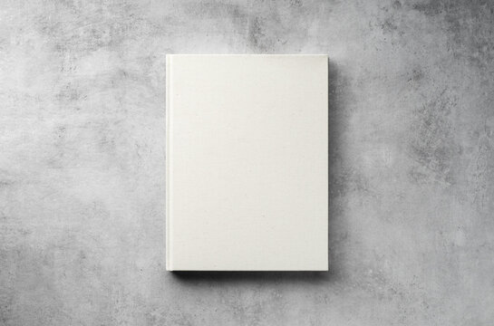Hardcover closed blank book