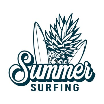 summer vacation and surfing vintage modern logo for t shirt, printing, badges and surfing club logo