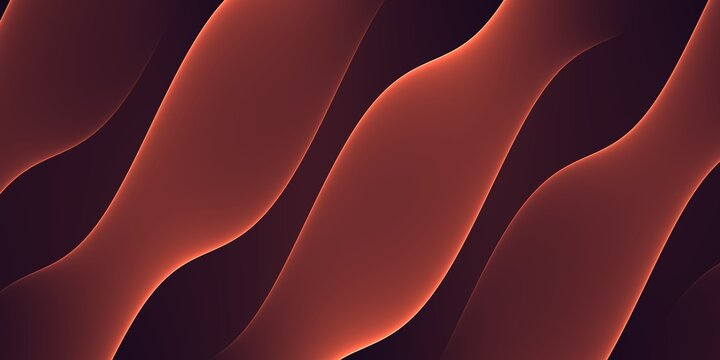 Abstract red background with 3D drop shadow shapes effect isolated on black background design