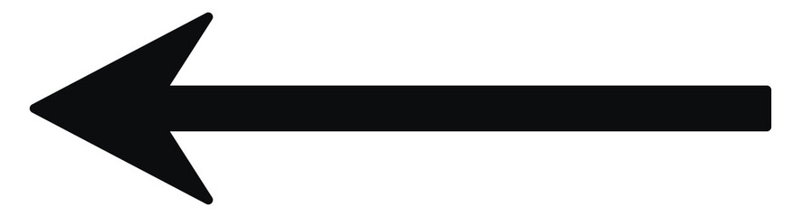 Fototapeta Black minimalistic arrow, illustration, vector on white background. obraz
