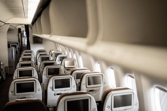 Empty airplane - Stock Photo