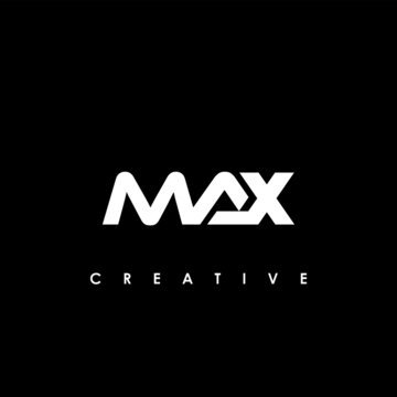 MAX Letter Initial Logo Design Template Vector Illustration