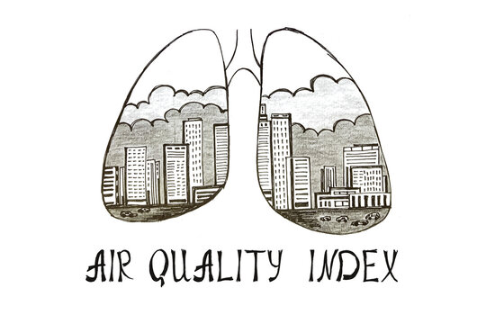 Conceptual photo about AIR QUALITY INDEX with written text.