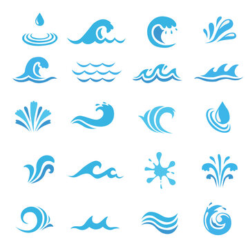 water abstraction. water symbol for logo. liquid icon.