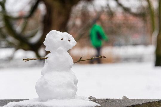 Wintereinbruch in Kiel Innenstadt, Schrevenpark und Hiroshimapark