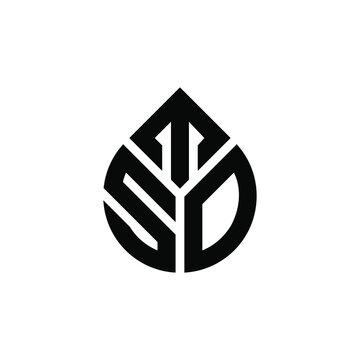 initial STD Letter Logo Design Monogram Icon Vector Template.LOGO STO