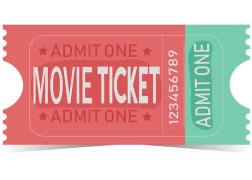 ticket pink admit one movie ticket buy cinema ticket theatre