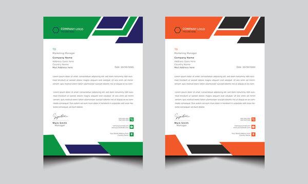 Modern letterhead with creative idea