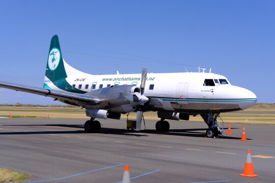 Convair 580, Air Chathams, Wanganui Airport, New Zealand