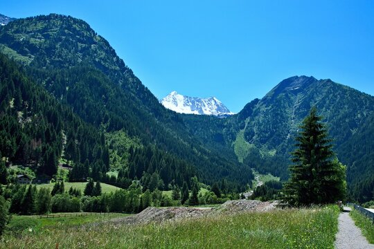 Italy-views of the mountains near the Passo del Tonale