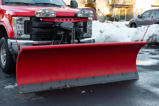 snow plow car