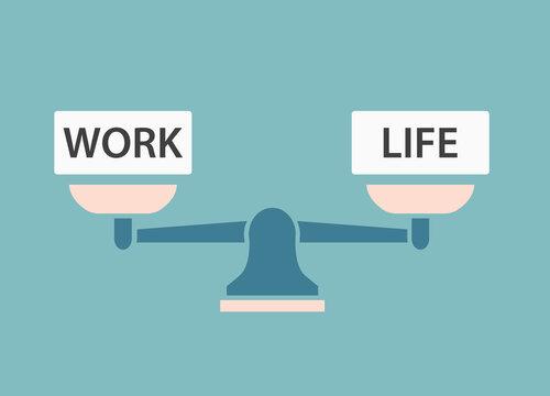 work-life balance concept- vector illustration