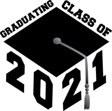 Graduating Class of 2021 Graduation Cap Graphic