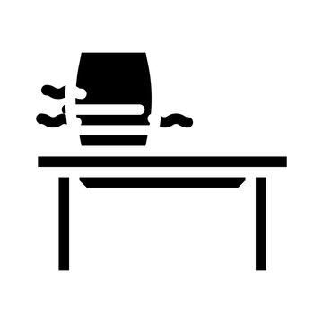 desktop air purifier glyph icon vector illustration