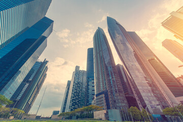 Fototapeta Low Angle View Of Modern Buildings Against Sky obraz