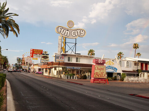 Fun City Motel and Chapel of the Bells in Las Vegas