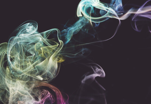 Smoke colorful flow shape background