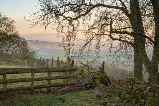 Landscape near Laverton, Cotswolds, Gloucestershire, England