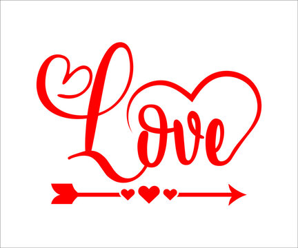 Love SVG. Happy Valentine's Day. Valentine's Day SVG.  SVG cutting file. Printable Vector Illustration,