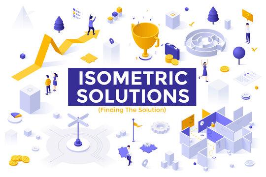 Isometric Vector Concept