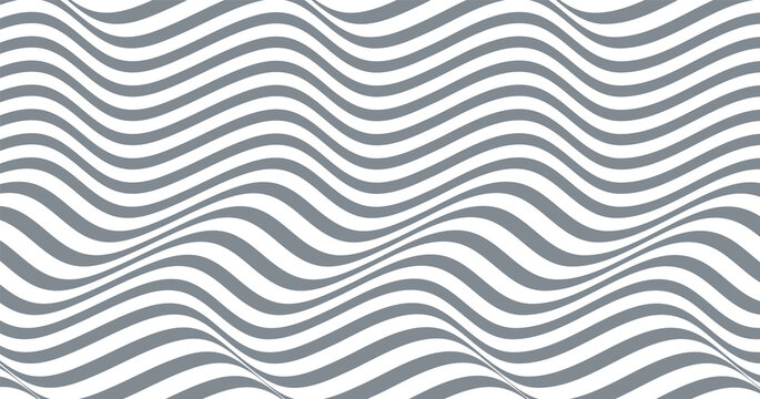 minimal abstract background. wavy lines pattern. optical art, opart striped. modern waves, geometric lines stripes, vector can be used for advertising, marketing,presentation