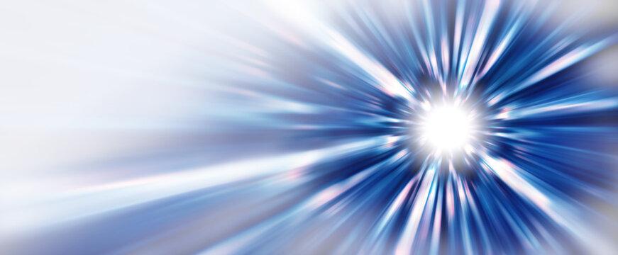 抽象的な背景、光線、青