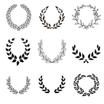 laurel wreaths set